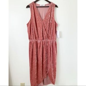 JustFab velvet pink plus dress size 3x